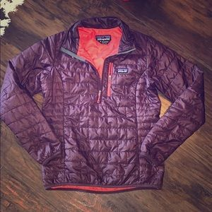 Patagonia primaloft nano insulated half zip jacket